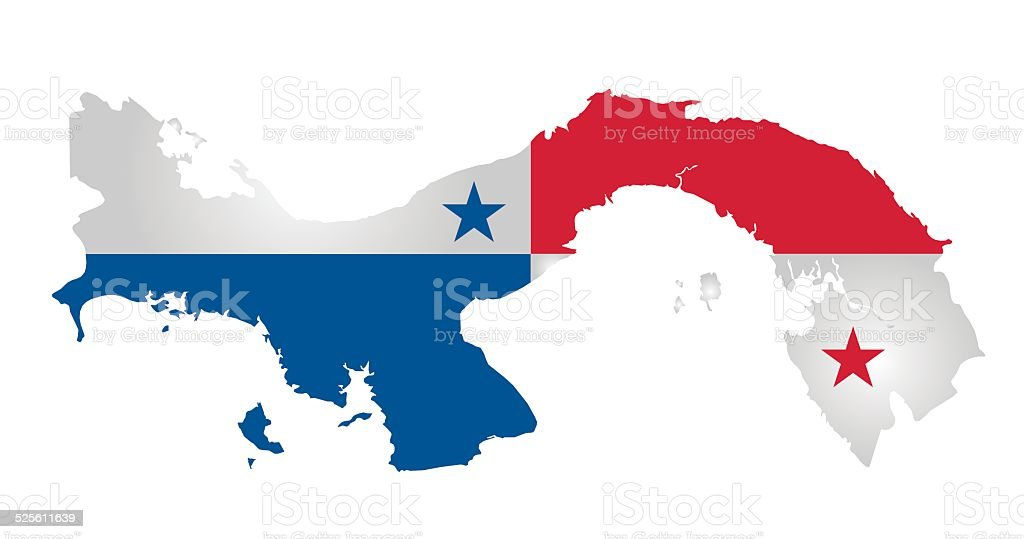 Panama Flag vector art illustration