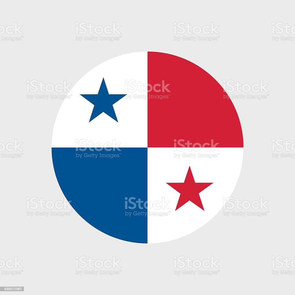 Panama flag vector art illustration