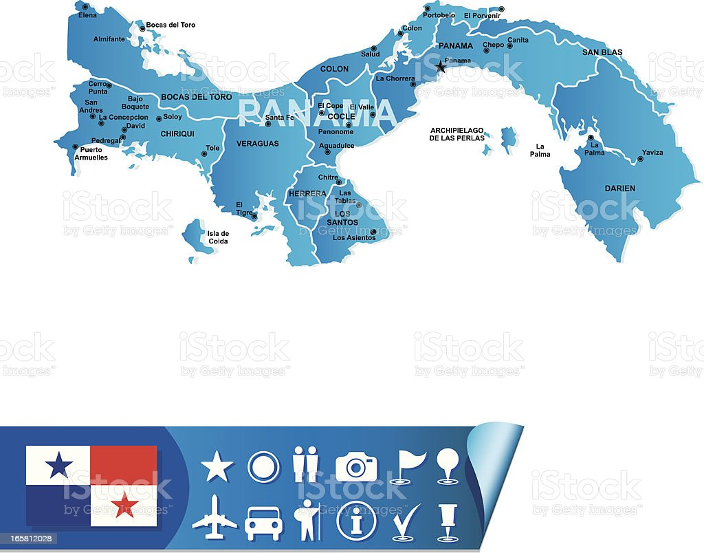 Panama map royalty-free stock vector art