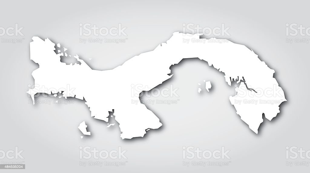 Panama Silhouette White vector art illustration