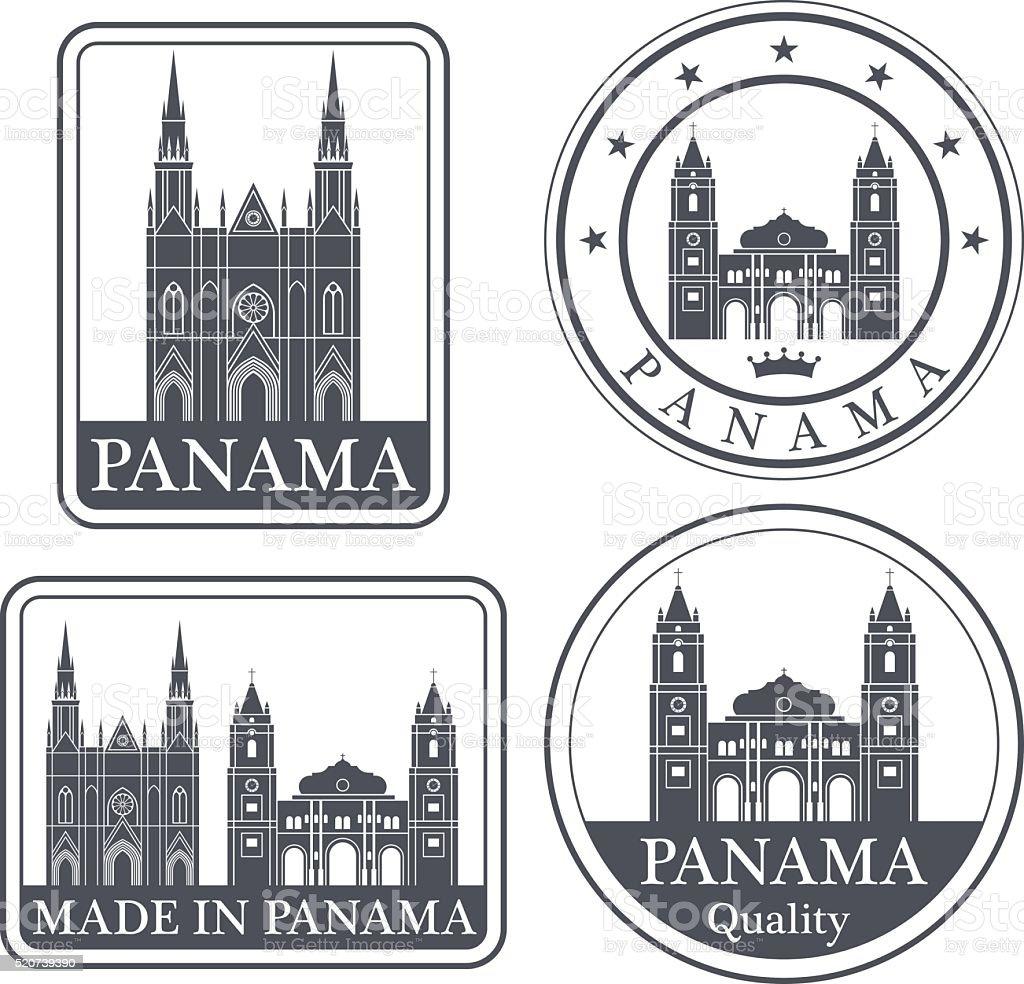 Panama vector art illustration