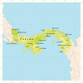 Panama Vector Map