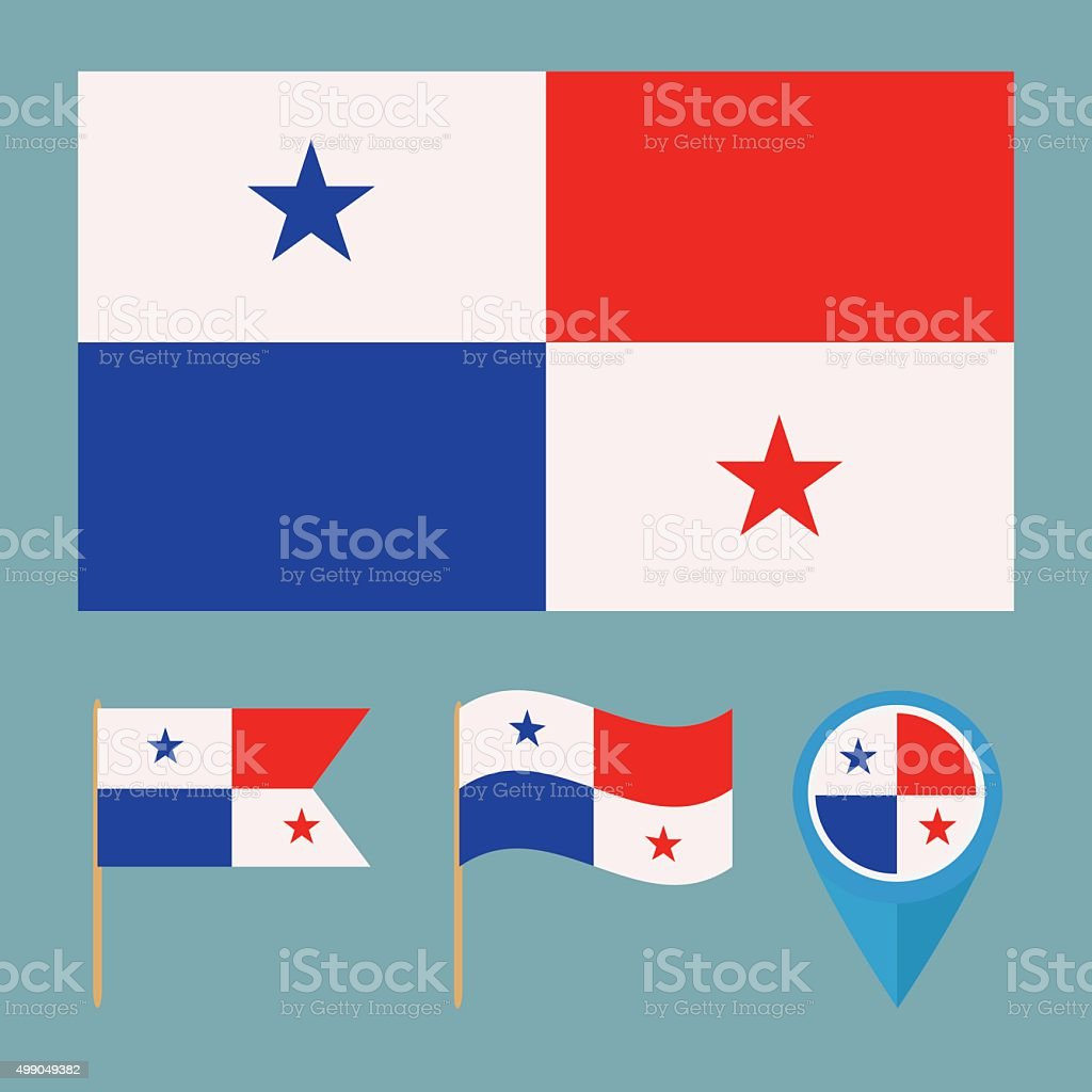 Panama,country flag vector art illustration