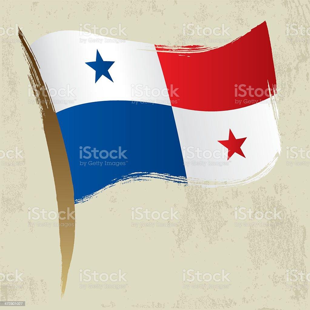 Panamanian Flag royalty-free stock vector art