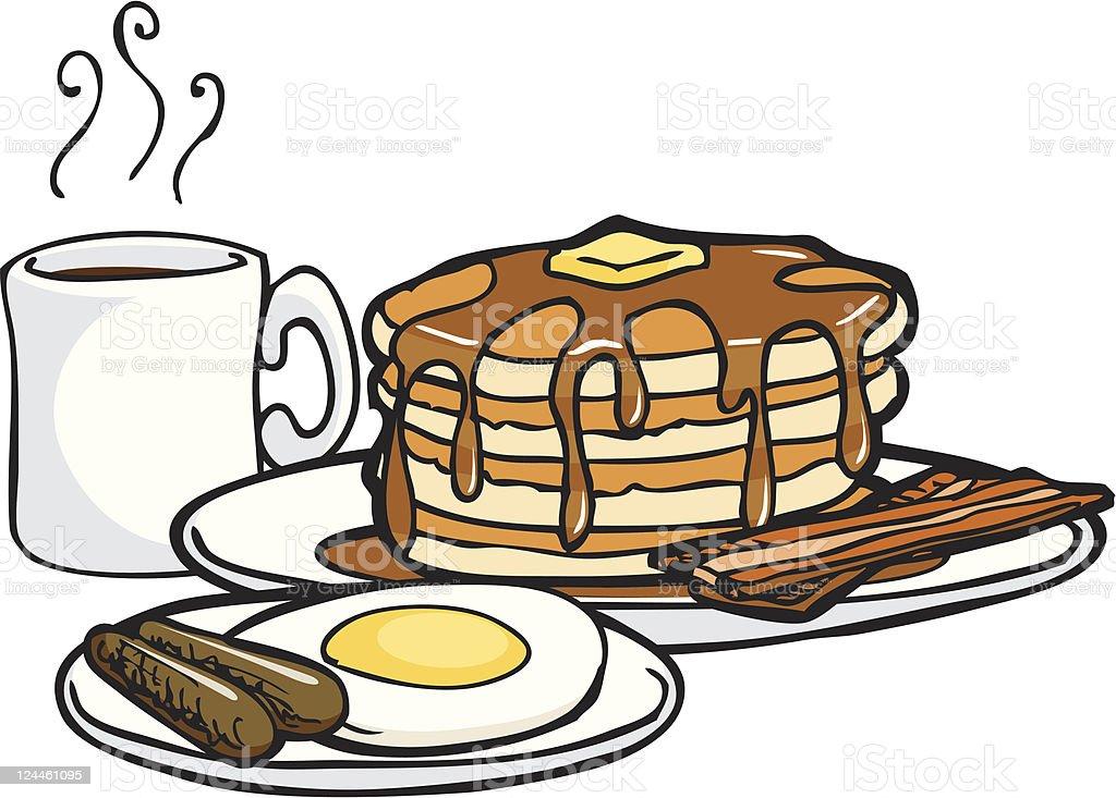 Pancake Breakfast of Kings vector art illustration