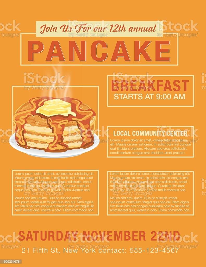 pancake breakfast poster template stock vector art 606234678 istock pancake breakfast poster template royalty stock vector art