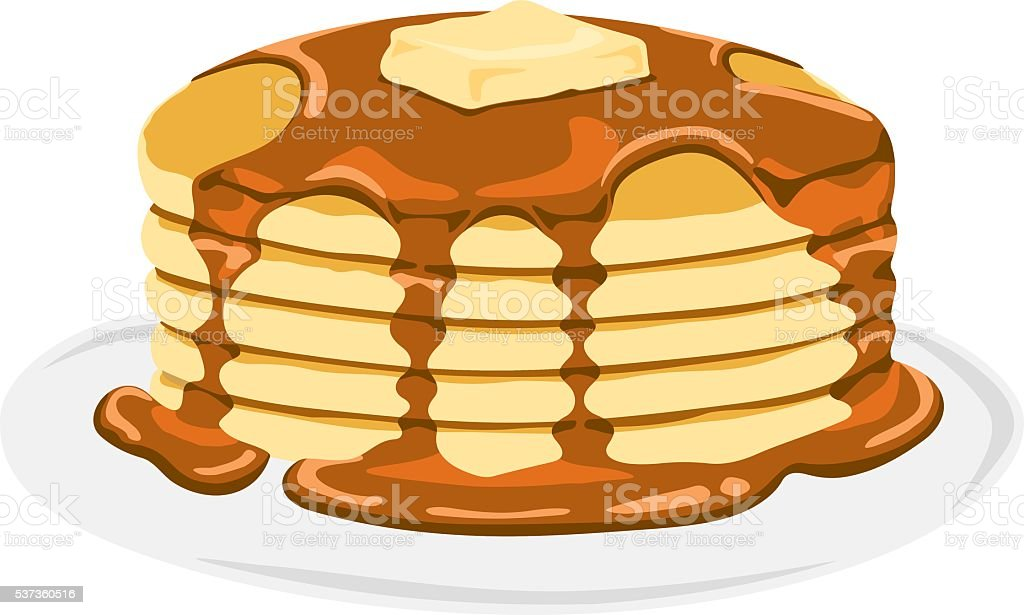 Pancake vector art illustration