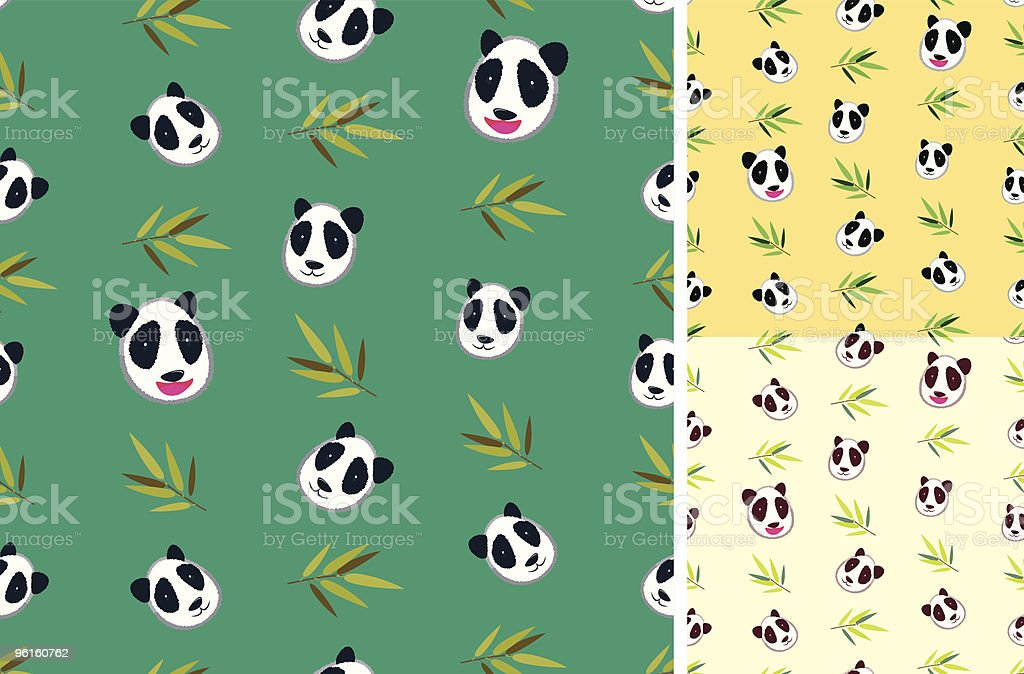 Panda bamboo Pattern vector art illustration