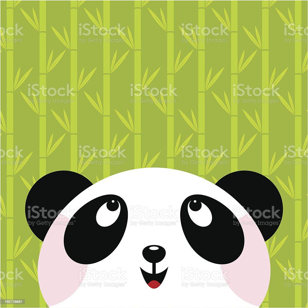 Panda bear vector art illustration