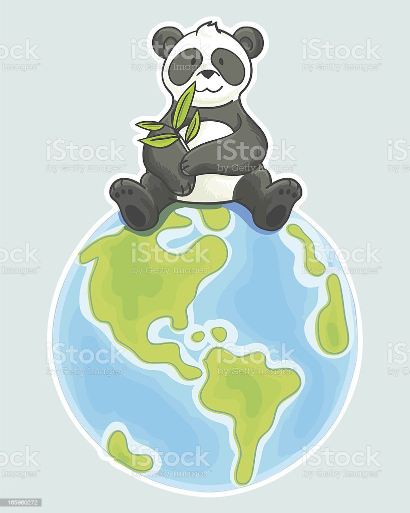 Panda cartoon illustration vector art illustration