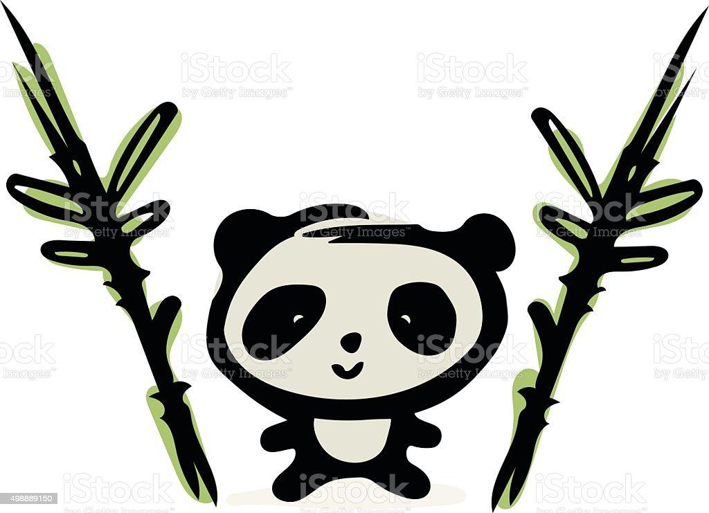 Panda Doodle vector art illustration