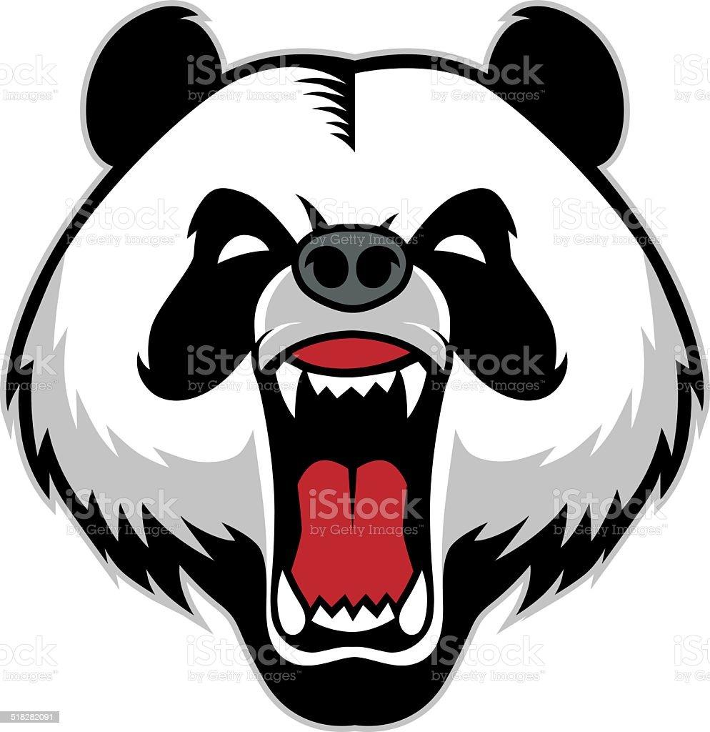 panda head mascot vector art illustration