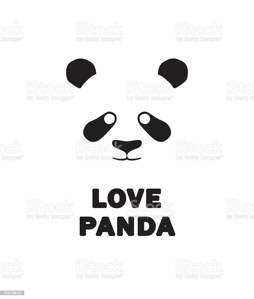 Panda icon, sign, vector illustration vector art illustration