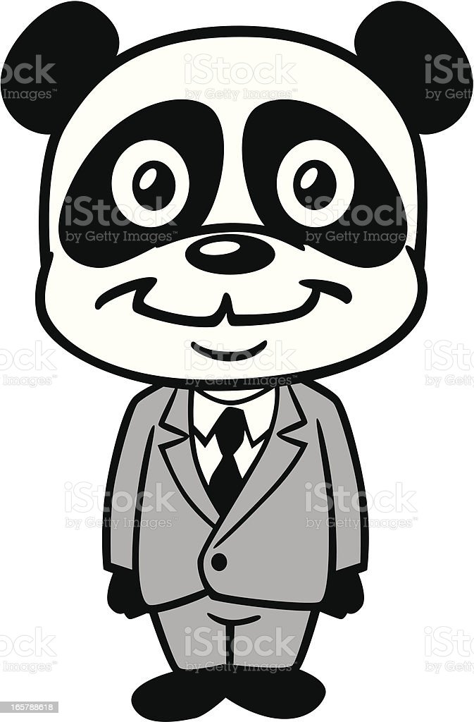 Panda In Business Suit vector art illustration