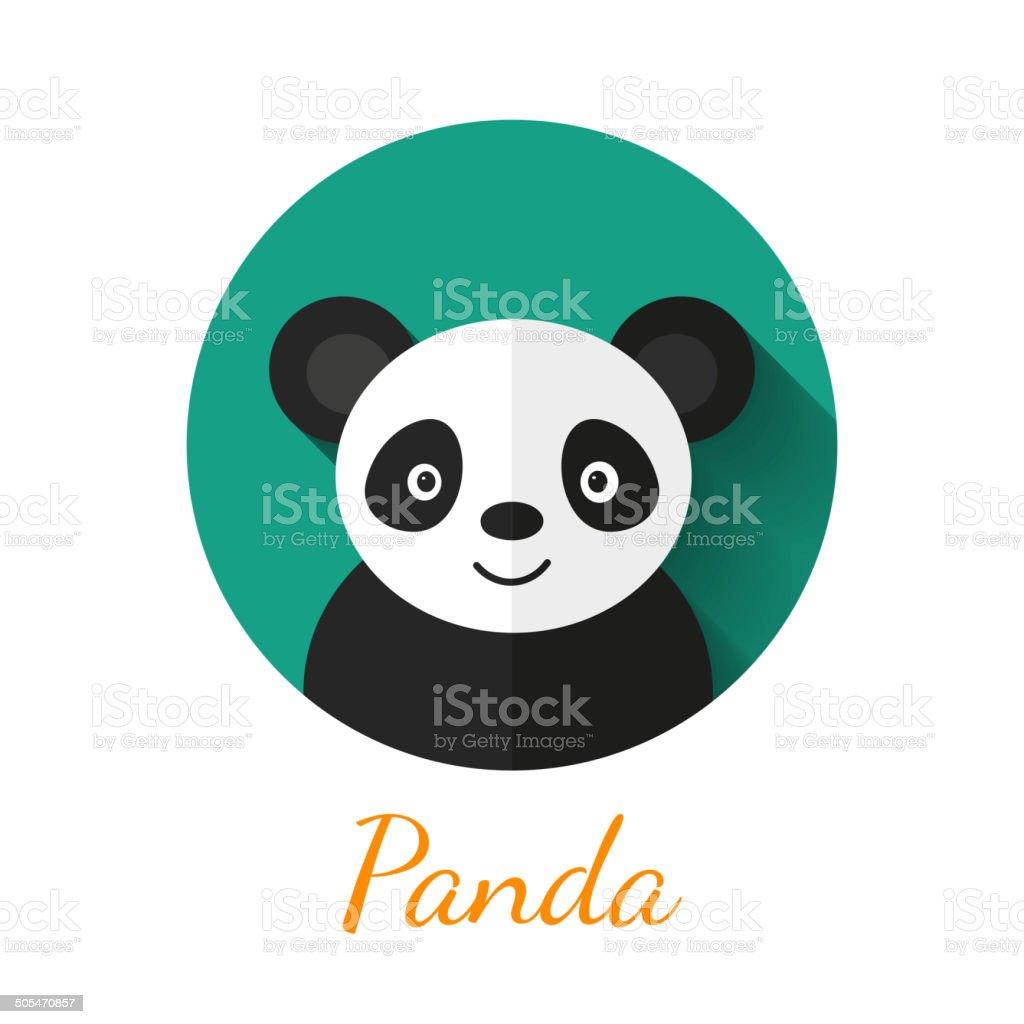 Panda portrait vector art illustration