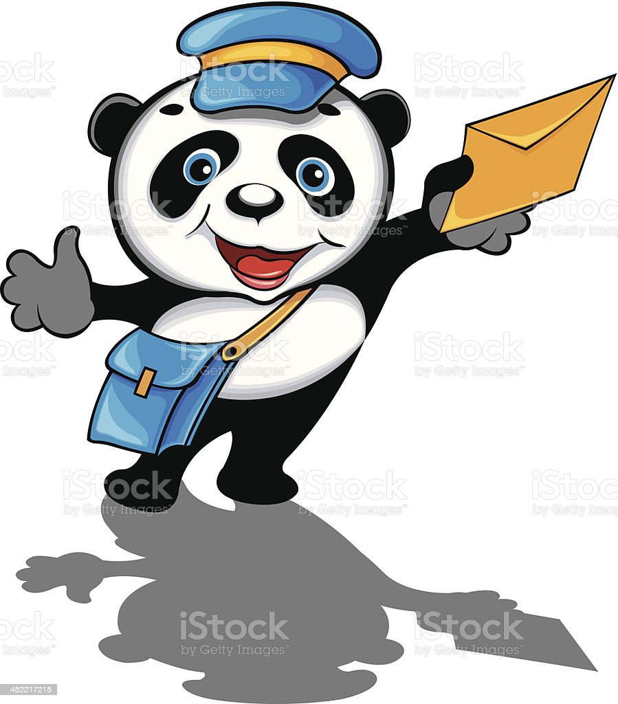 Panda potman vector art illustration