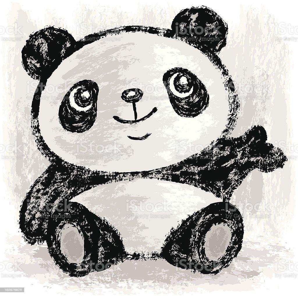 Panda presentations vector art illustration