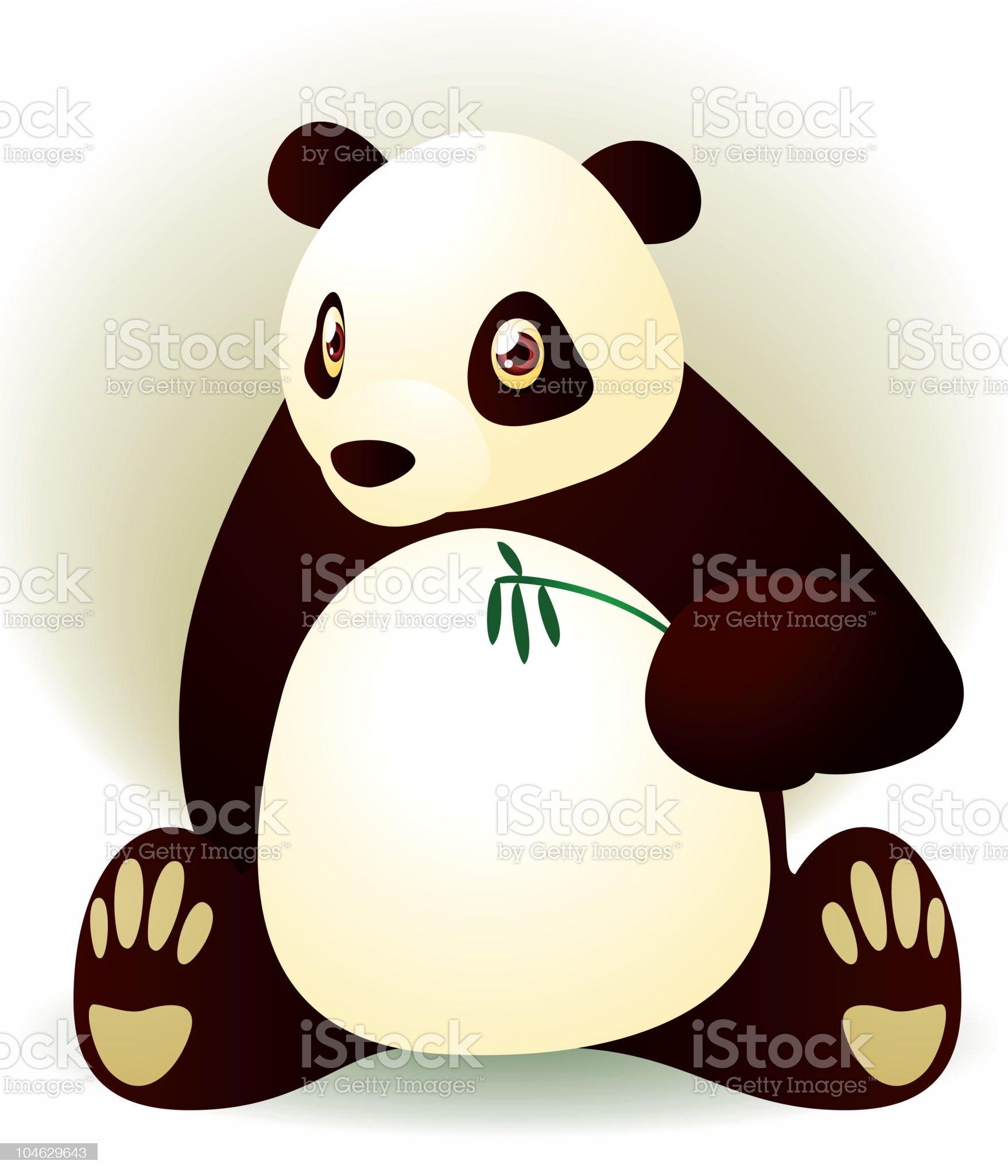 Panda sitting down royalty-free stock vector art