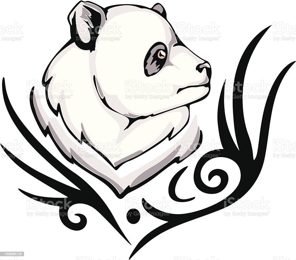 panda tattoo royalty-free stock vector art