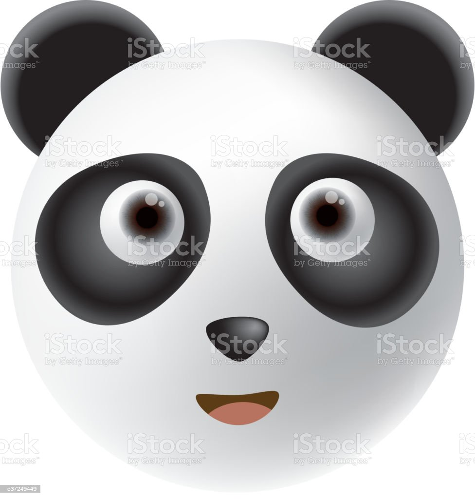 Panda vector art illustration