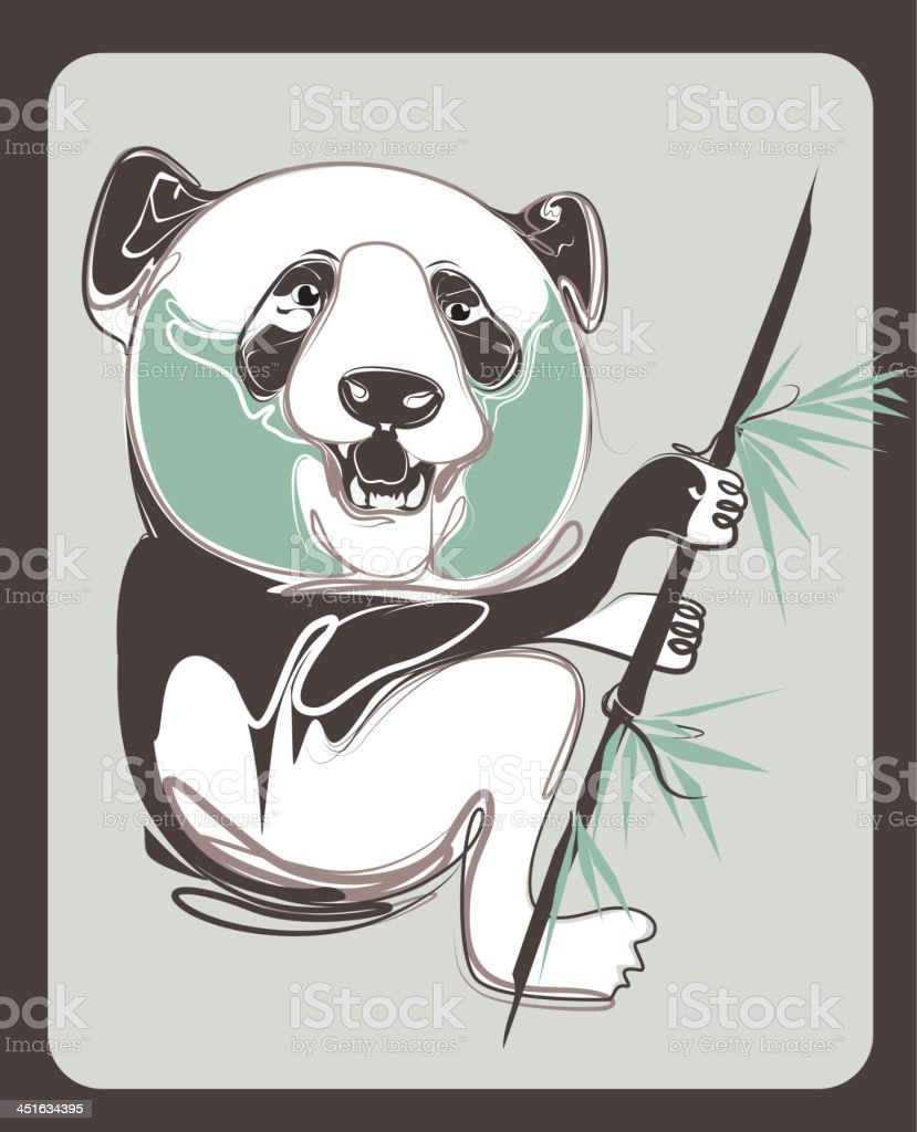 panda vector with vintage style royalty-free stock vector art
