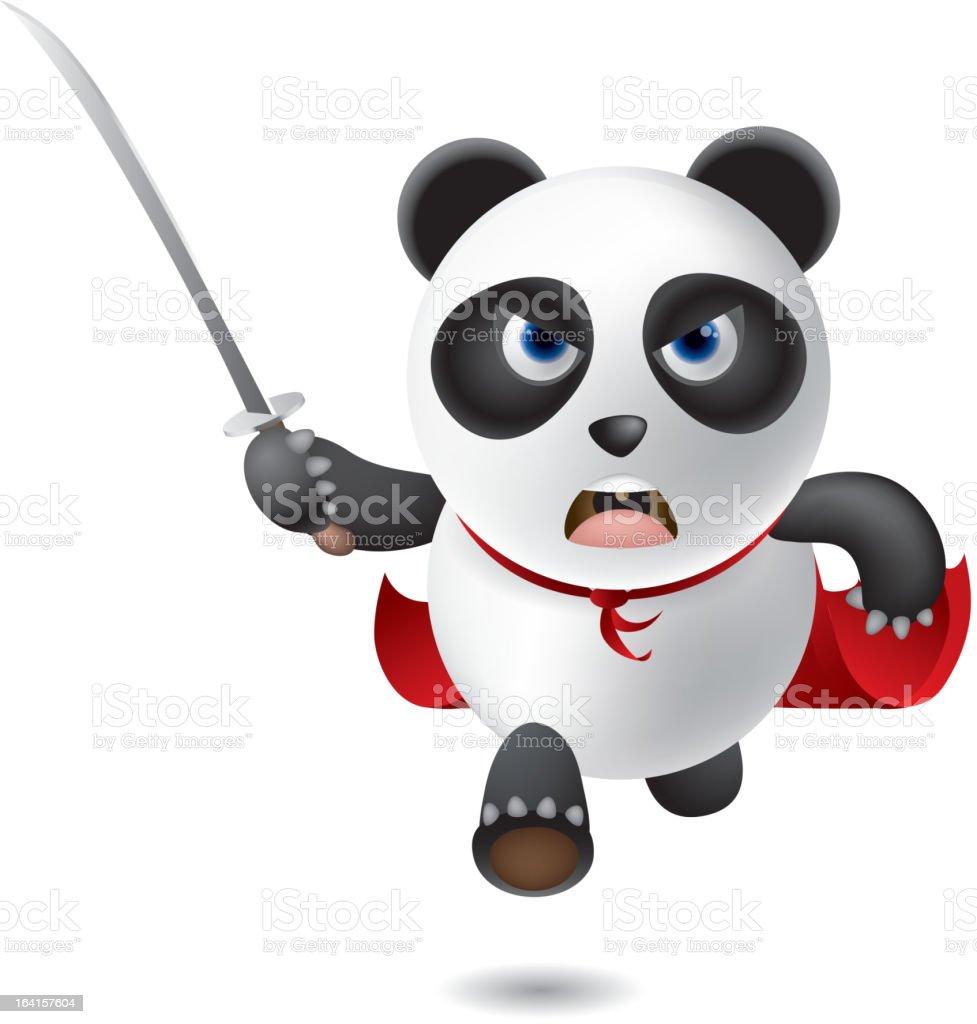 Panda Warrior royalty-free stock vector art
