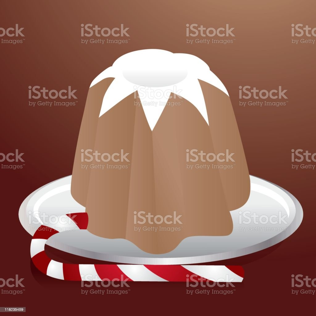 Pandoro and Candy cane royalty-free stock vector art