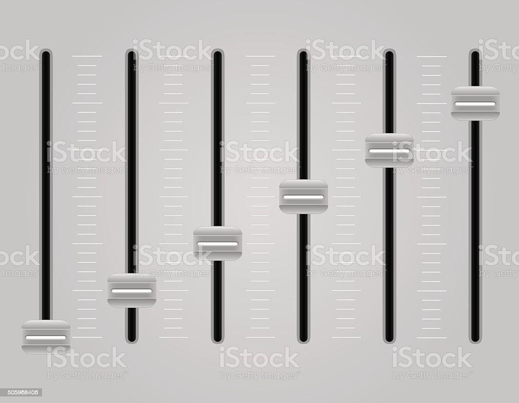 panel console sound mixer vector illustration vector art illustration