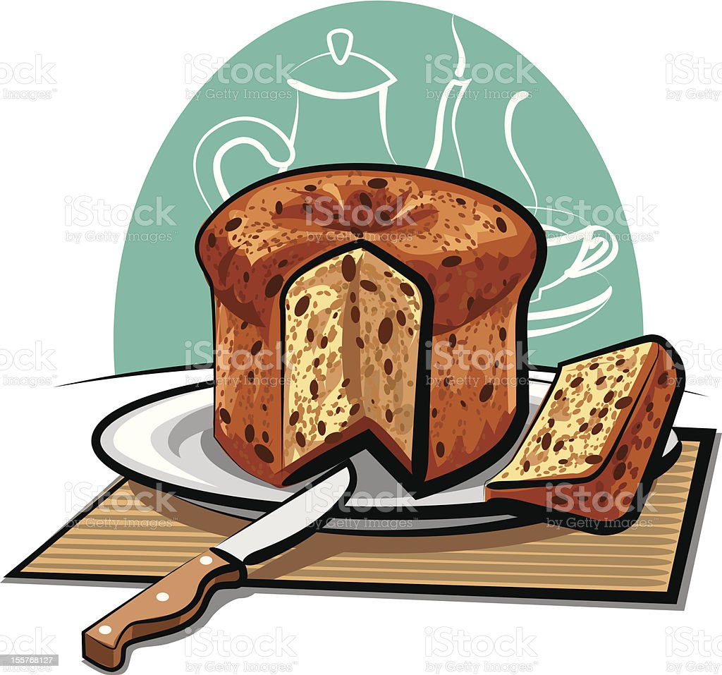 panettone cake royalty-free stock vector art