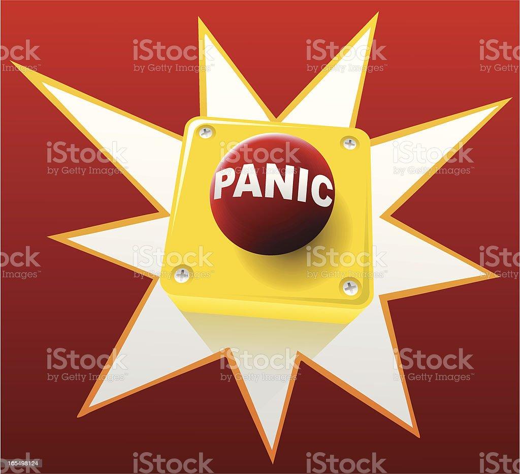 Panic button vector art illustration