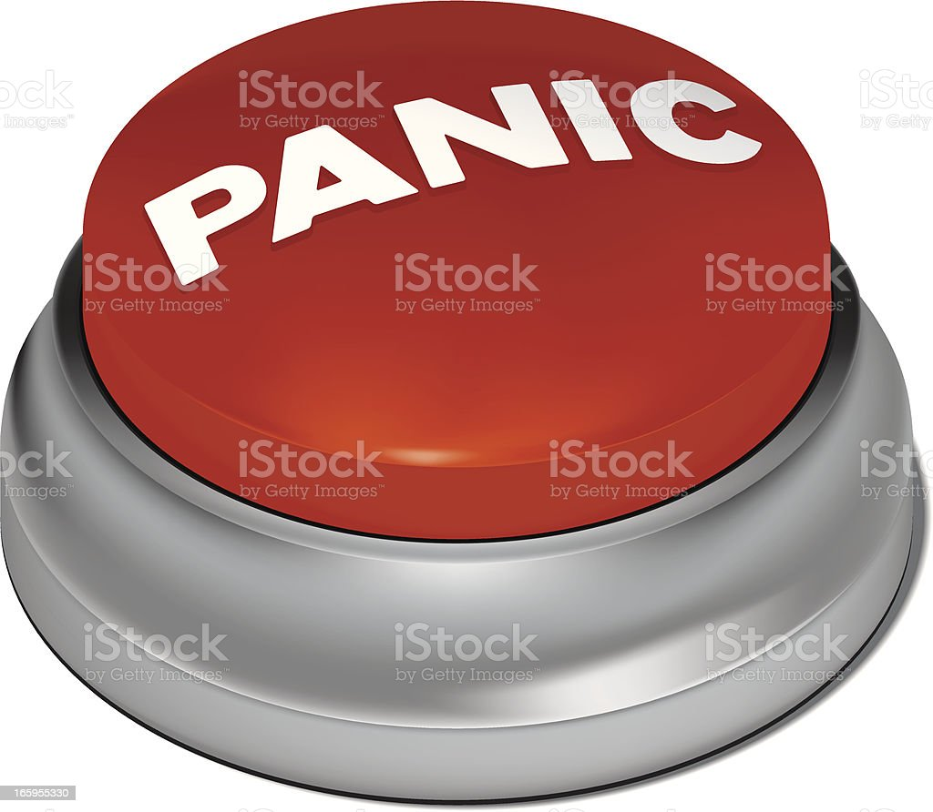 Panic Button royalty-free stock vector art