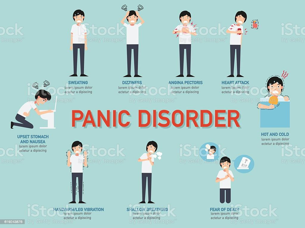 Panic disorder infographic,illustration. vector art illustration