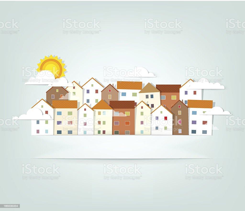 panorama de la ville. stock vecteur libres de droits libre de droits