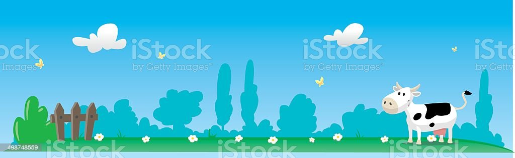 Paysage panoramique de campagne royalty-free stock vector art