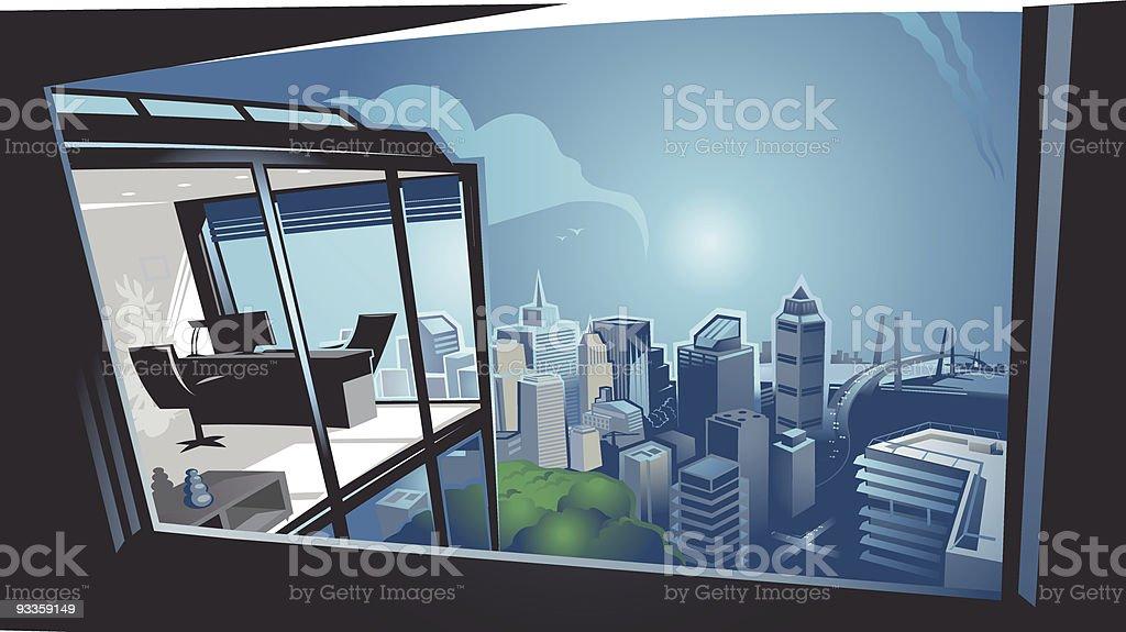 Panoramic vector art illustration