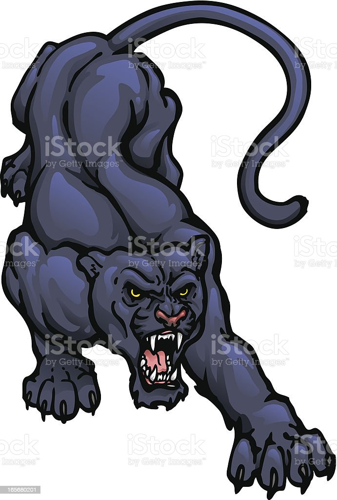 Panther Crouch royalty-free stock vector art