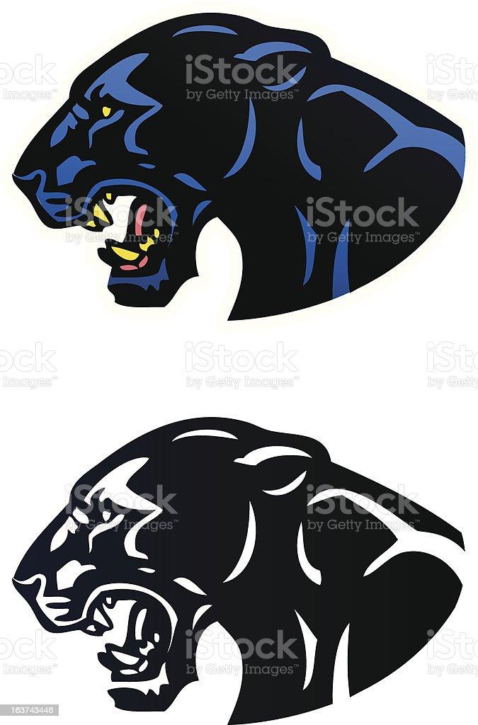 Panther Mascot royalty-free stock vector art