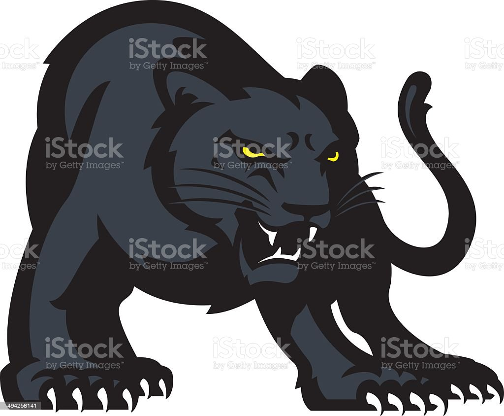 Panther vector art illustration