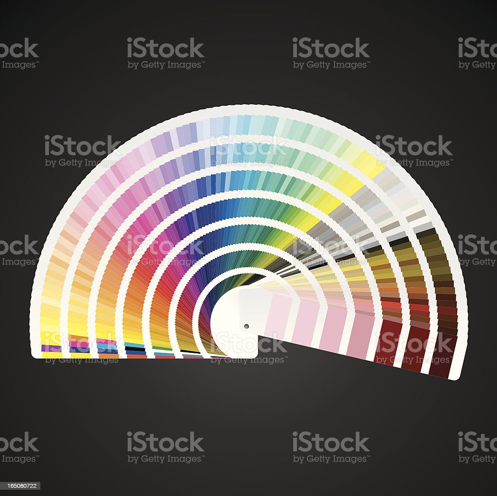 Pantone Color Swatch Book royalty-free stock vector art