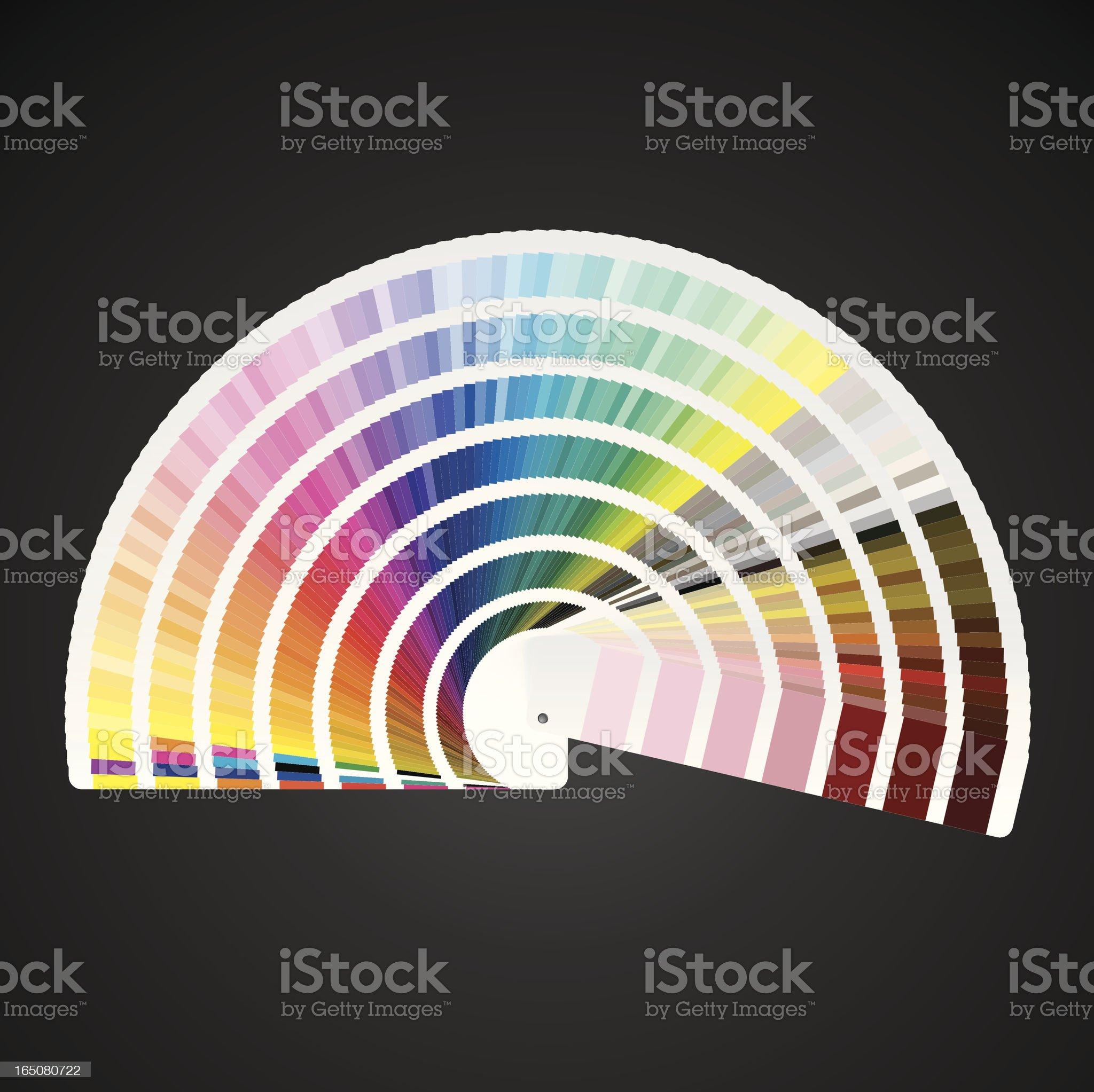 Pantone Color Swatch Book royalty-free stock vector art