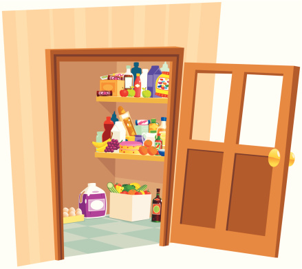 Food Pantry Clip Art, Vector Images & Illustrations