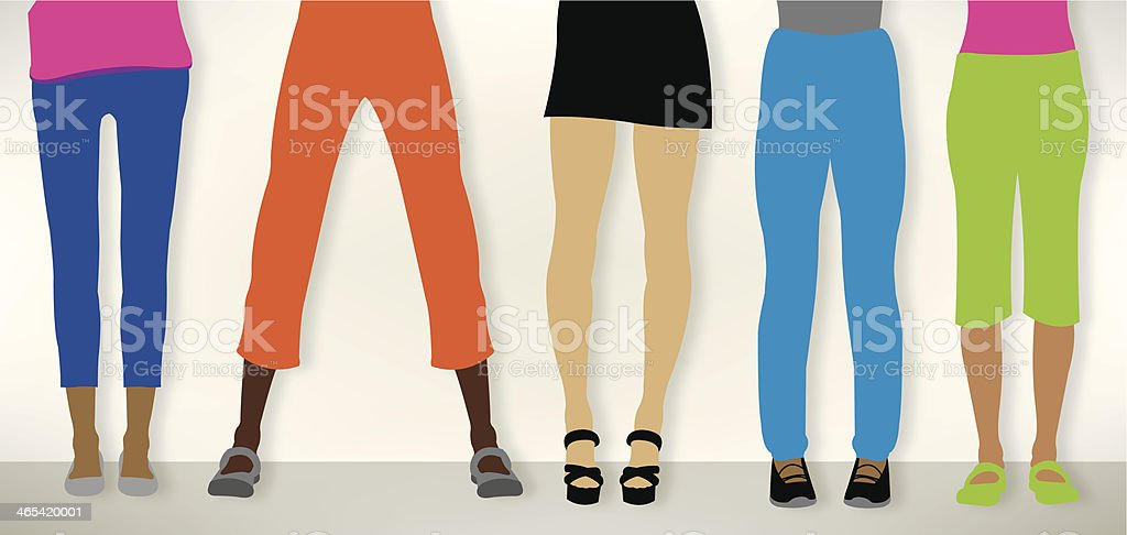 Pants, Female Legs - Fashion Clothes royalty-free stock vector art
