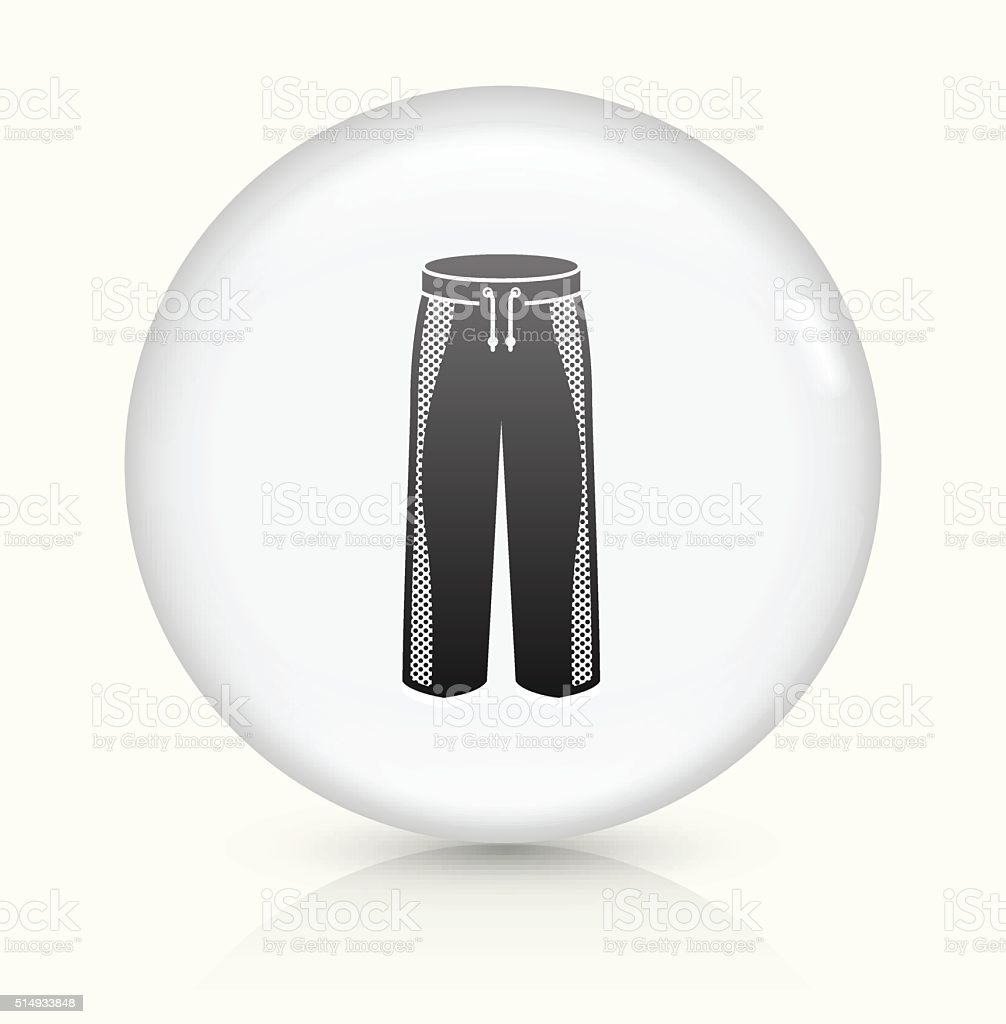 Pants icon on white round vector button vector art illustration
