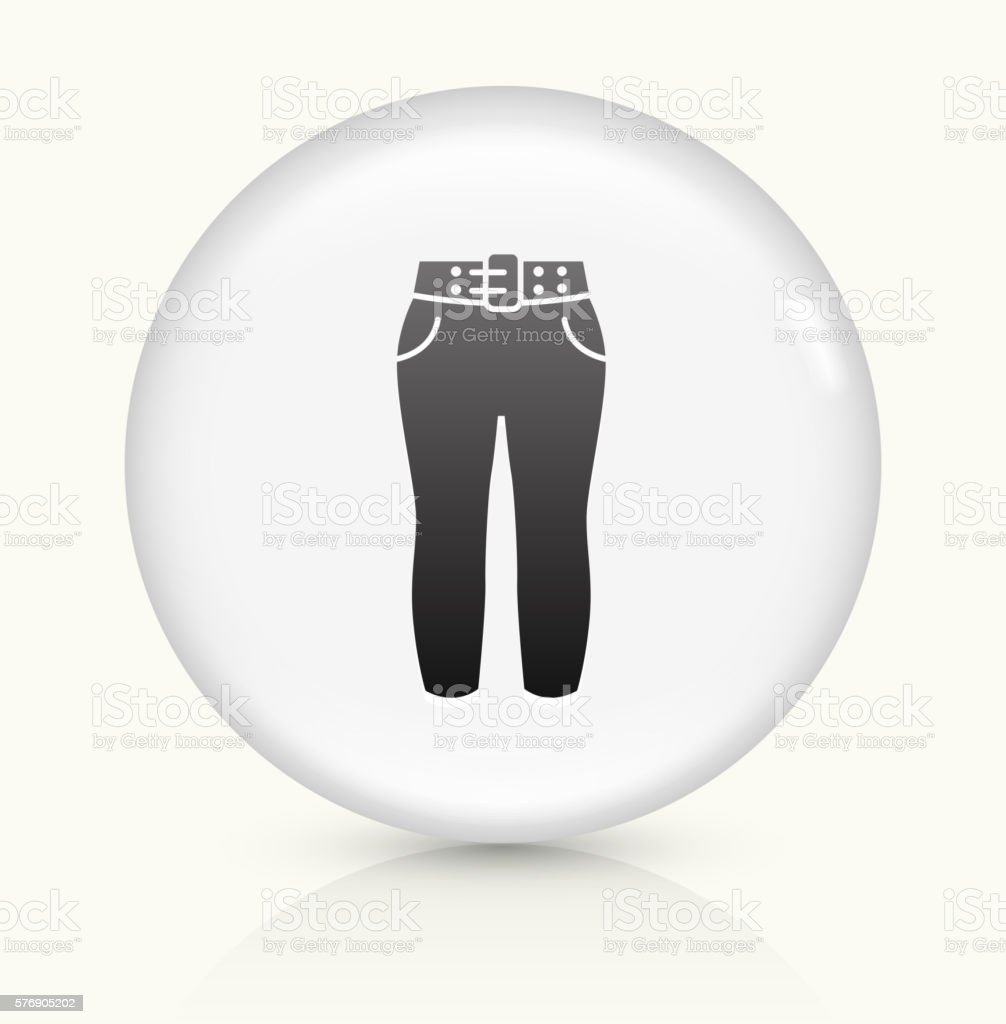 Pants icon on white round vector button vector art illustration