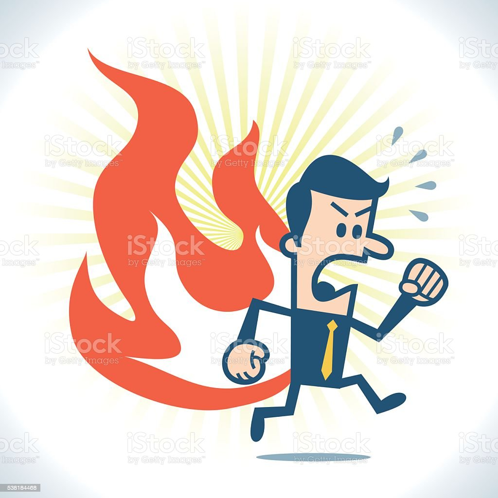 Pants on fire vector art illustration