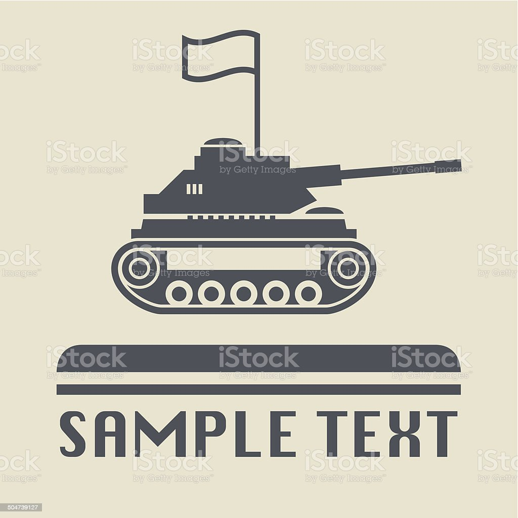Panzer icon or sign vector art illustration
