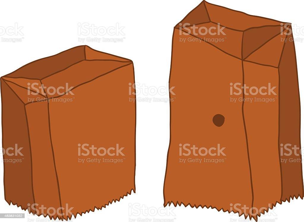 Papaer Bag vector art illustration