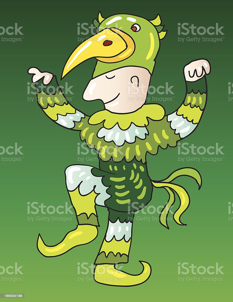 Papageno from The Magic Flute royalty-free stock vector art
