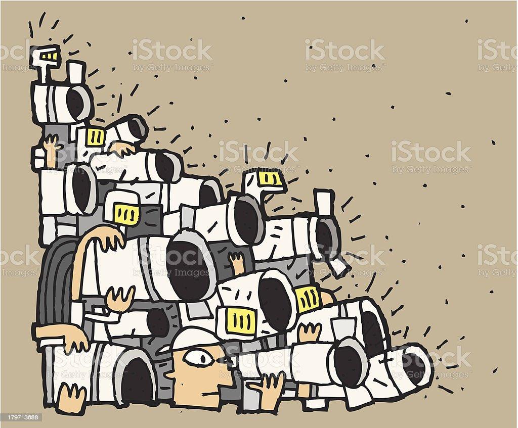 Paparazzi cartoon No.2 royalty-free stock vector art