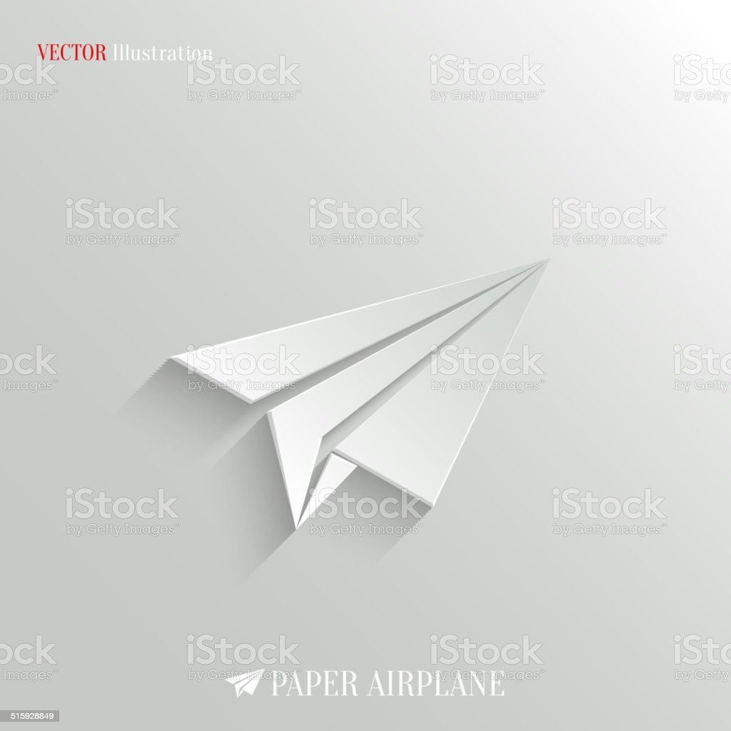 Paper Airplane icon - vector web background stock photo